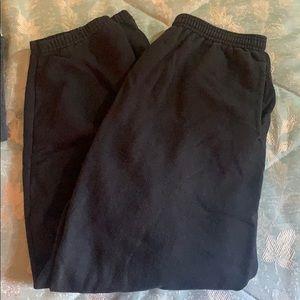 Black sweat pants